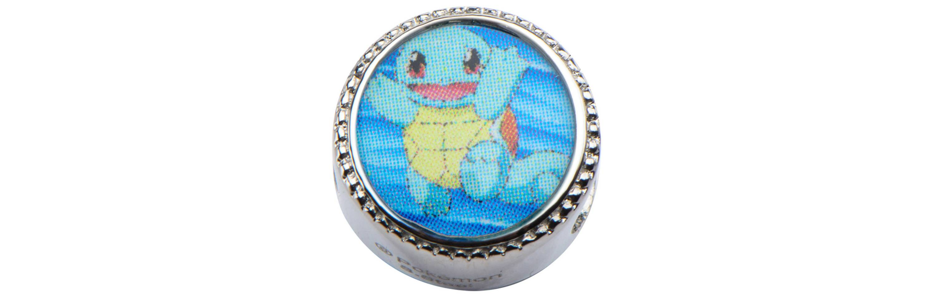 Squirtle & Water Droplet Stainless Steel Bead Charm