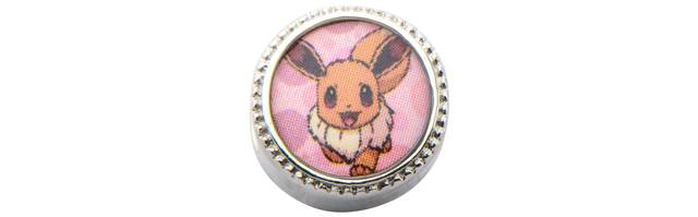 Eevee & Pokeball Stainless Steel Bead Charm