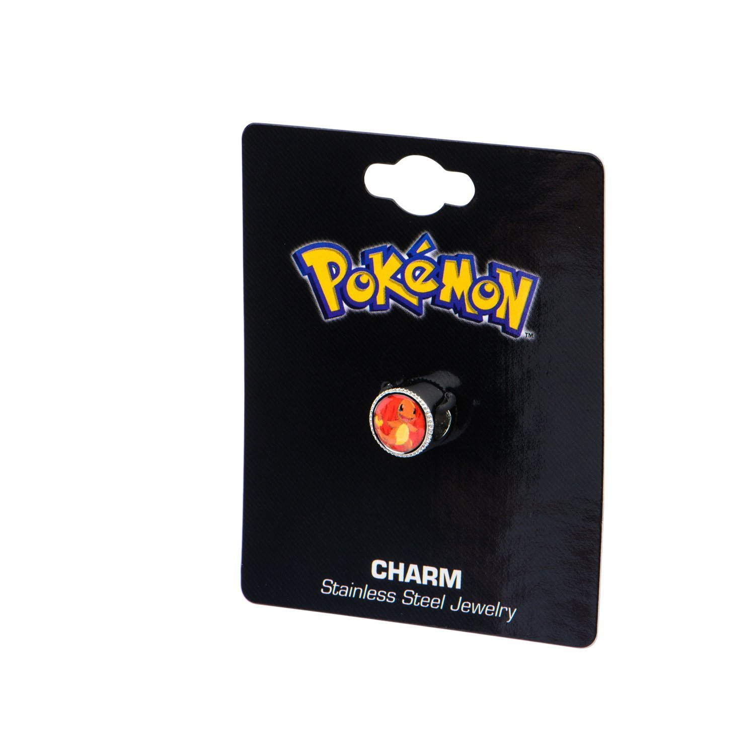Charmander & Flame Stainless Steel Bead Charm