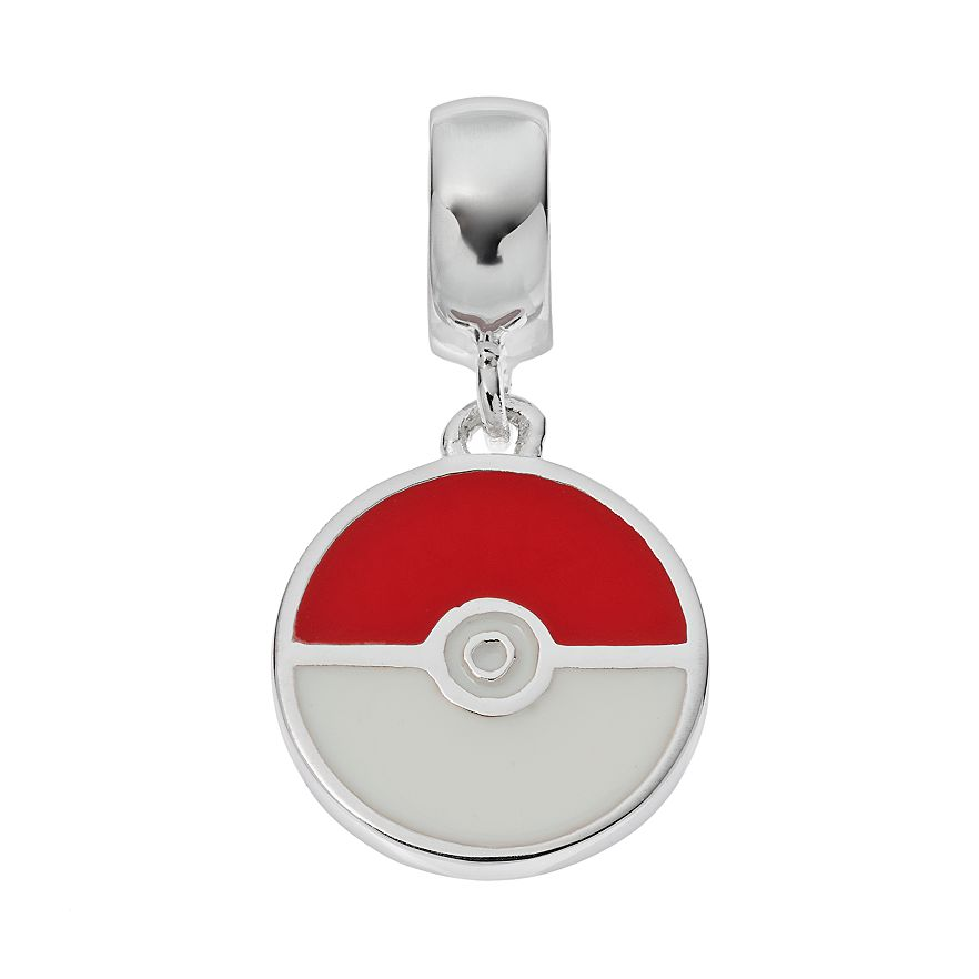 Pokeball Sterling Silver Dangle Charm