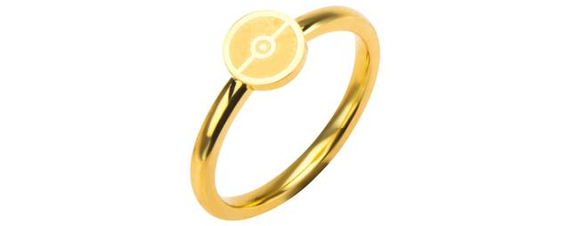 Pokeball Gold-Plated Stainless Steel Ring - Size 8
