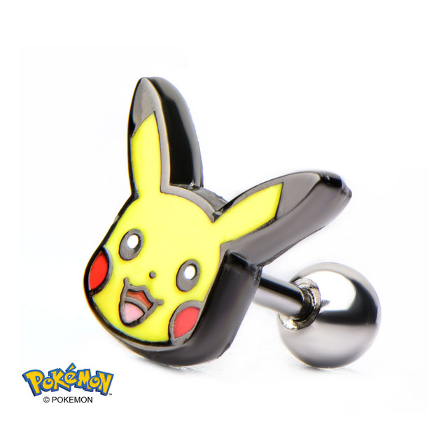 Pikachu Head 14g 316L Cartilage Earring