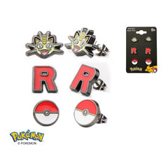 Team Rocket Stainless Steel Stud Earrings Set