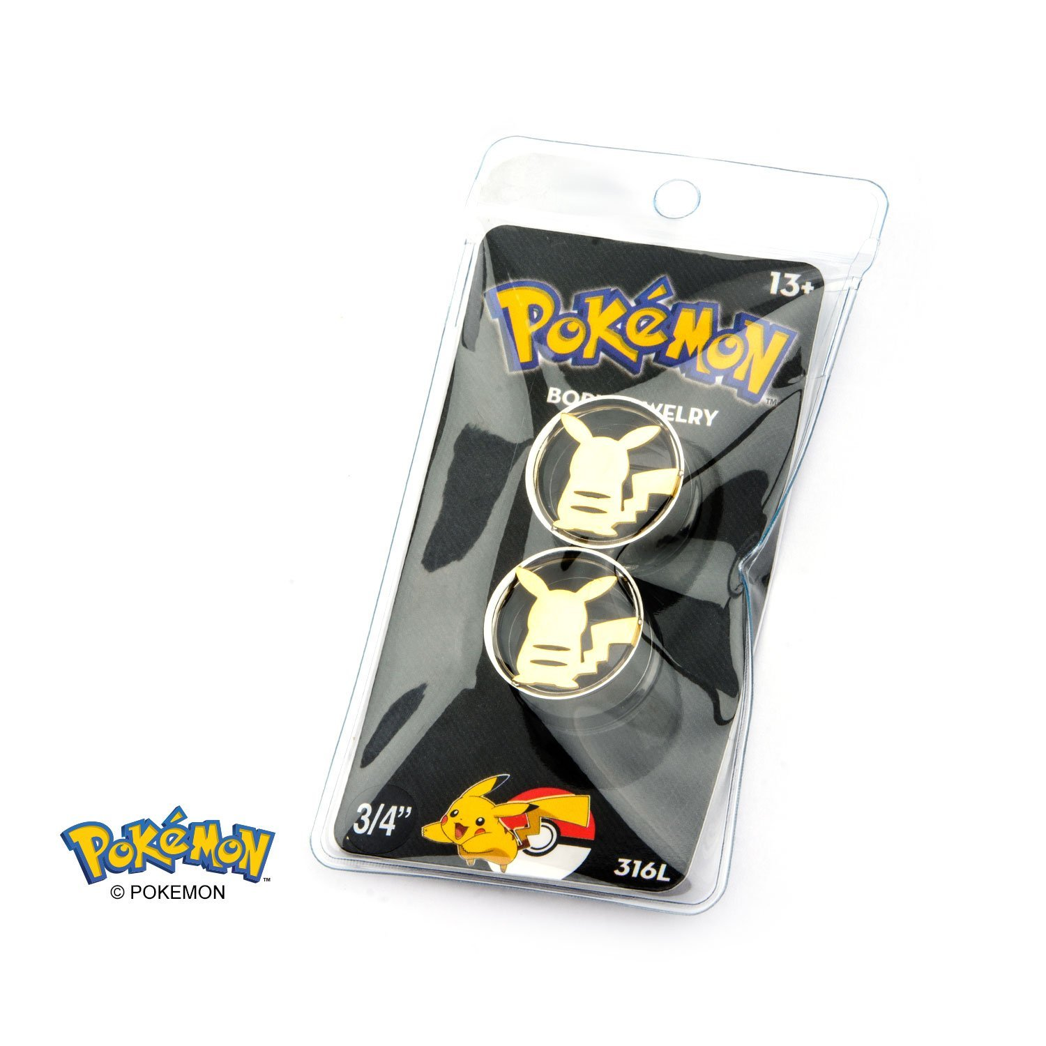 Pikachu Cut-Out 3/4 Plugs