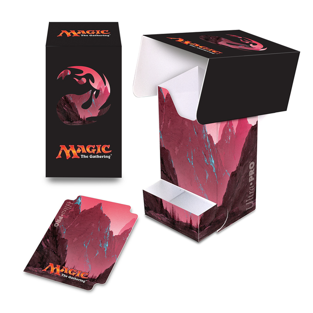 Ultra Pro MAGIC Alcove Flip MTG MOUNTAIN Pro Deck Box Ravnica THRONE WAR SPARK