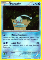 Manaphy XY190 Cosmos Holo Promo - Magearna Mythical Collection Exclusive