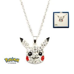Pikachu Head Silver-Plated Necklace