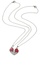 Pokeball Heart Best Friend Necklace