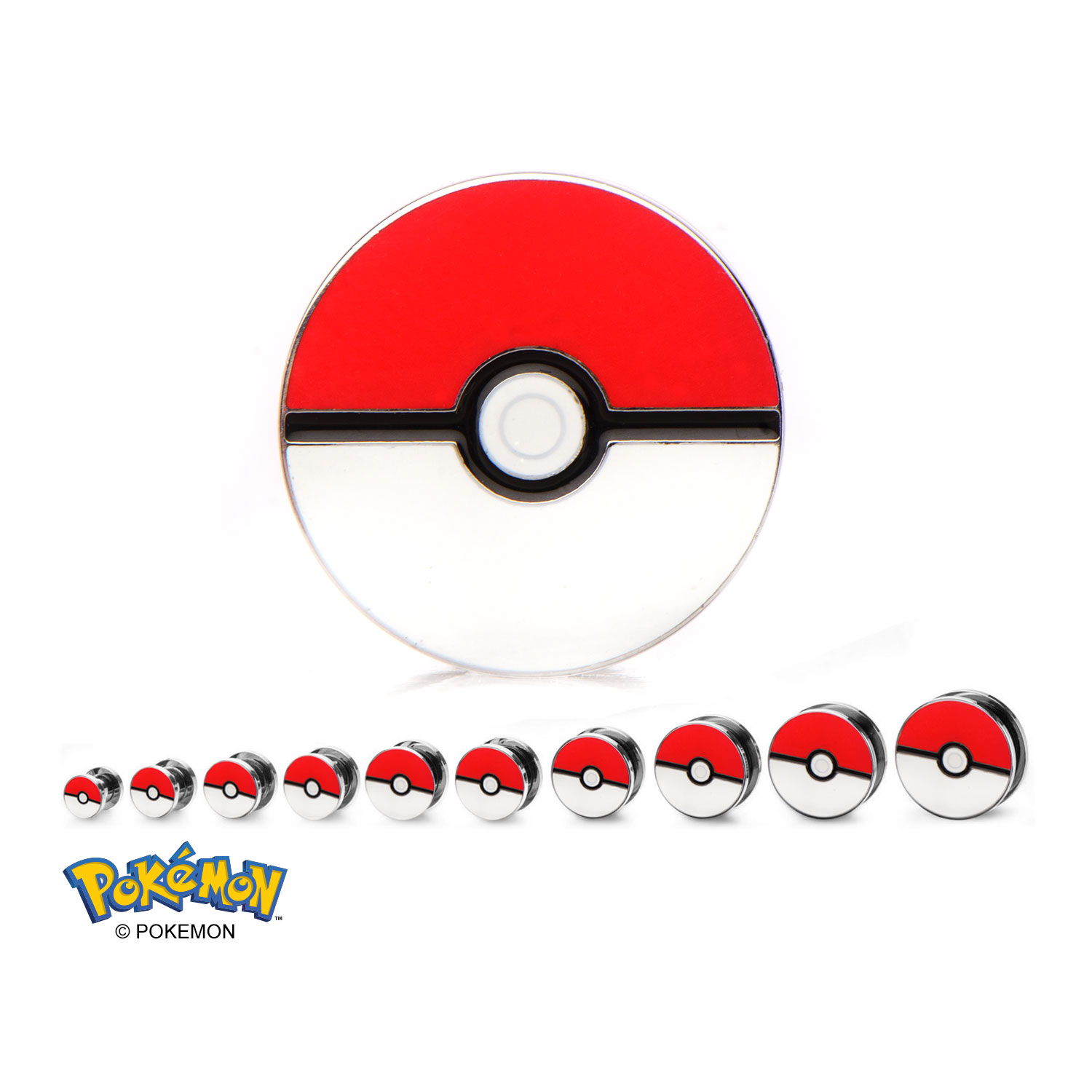 Pokeball Steel Screw-Fit Plug - 3/4