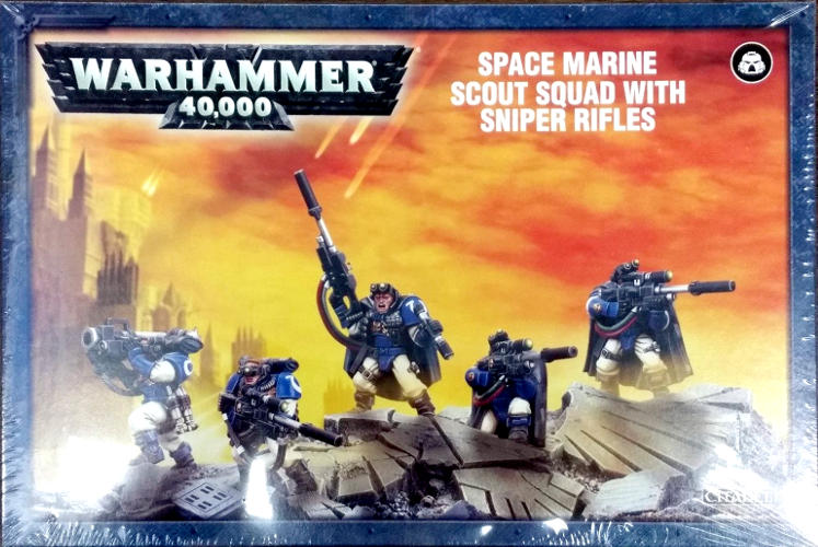 Scout Squad with SNIPER RIFLES Space Marine 40K Warhammer Sealed Sniper