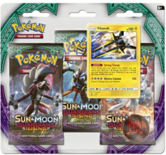 Pokemon Sun & Moon SM2 Guardians Rising 3-Booster Blister Pack - Vikavolt Promo