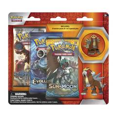 Pokemon Legendary Beasts 3-Booster Blister Pack - Entei Pin