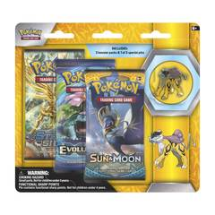 Pokemon Legendary Beasts 3-Booster Blister Pack - Raikou Pin