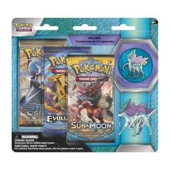 Pokemon Legendary Beasts Collector's Pin 3-Pack Blister - Suicune