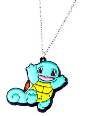 Squirtle Enamel Pendant Necklace w/ 18