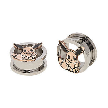 Eevee Cut-Out 3/4 Steel Plugs