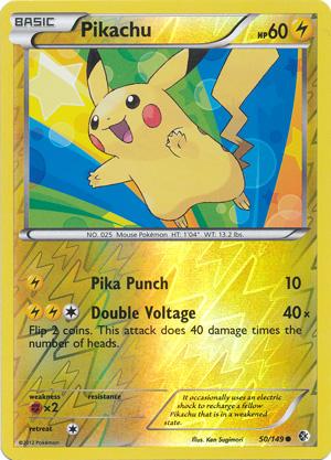 Pikachu - 50/149 - Common - Reverse Holo