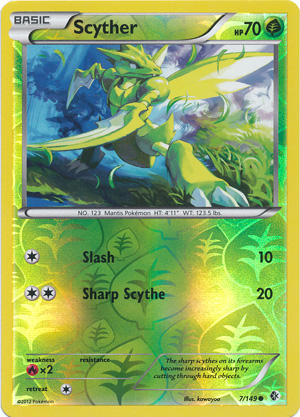 Scyther - 7/149 - Common - Reverse Holo