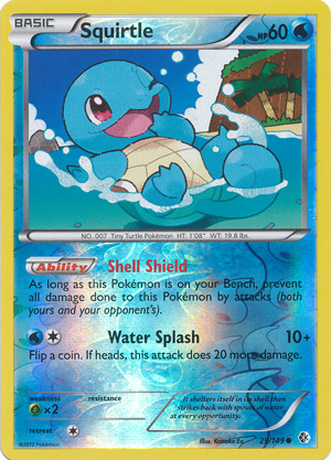 Squirtle - 29/149 - Common - Reverse Holo