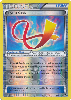 Pokemon TCG XY FURIOUS FISTS FOCUS SASH UNCOMMON 91//111 X 4
