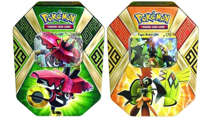 5db0577ae2e Pokemon Set of 2 Island Guardians Tins - Tapu Koko GX & Tapu Bulu GX ...