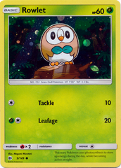 Rowlet 9/149 Cosmos Holo Promo - Decidueye GX Premium Collection Exclusive
