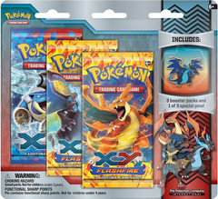 Pokemon XY2 Flashfire 3-Booster Blister Pack - Mega Charizard X Pin