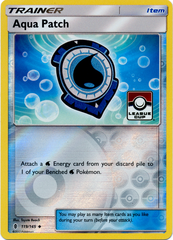 Aqua Patch 119/145 Reverse Holo Promo - 2017 Pokemon League