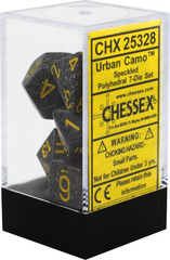 Chessex Dice CHX 25328 Speckled Polyhedral Urban Camo Set of 7