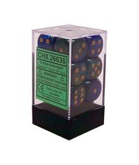 Chessex Dice CHX 26636 Gemini 16mm D6 Blue-Green w/ Gold Set of 12