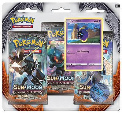 Pokemon Sun & Moon SM3 Burning Shadows 3-Booster Blister Pack - Cosmog Promo