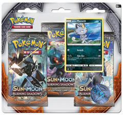 Pokemon Sun & Moon SM3 Burning Shadows 3-Booster Blister Pack - Alolan Meowth Promo