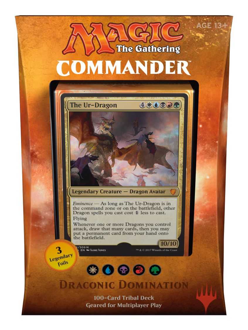 Mtg Commander 2017 Deck Draconic Domination Magic Products Commander Box Sets Collector S Cache