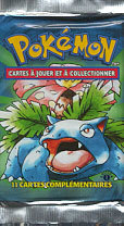 Pokemon Base Set 1st Edition Booster Pack (French)