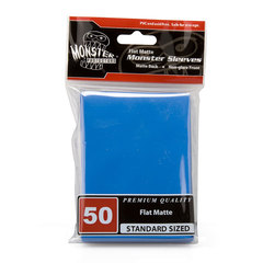 Monster Standard Size Blue Flat Matte Sleeves - 50ct