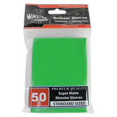 Monster Standard Size Super Matte Sleeves - Green - 50ct