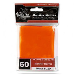 Monster Small Size Sleeves - Orange - 60ct