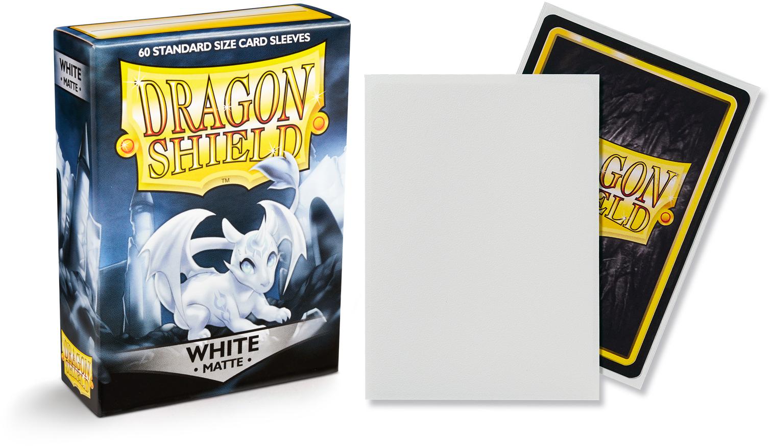100 Black Matte Non-Glare Standard Sleeves Dragon Shield 570 Dragon Shield