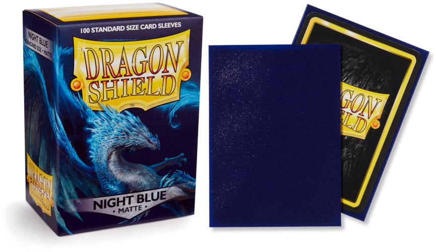 Dragon Shield Matte Standard-Size Sleeves - Night Blue - 100ct