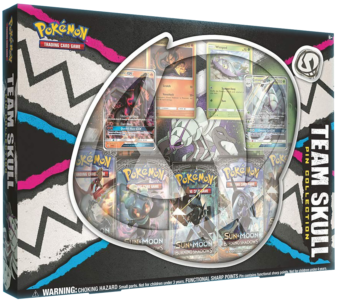 Pokemon Team Skull Pin Collection Box