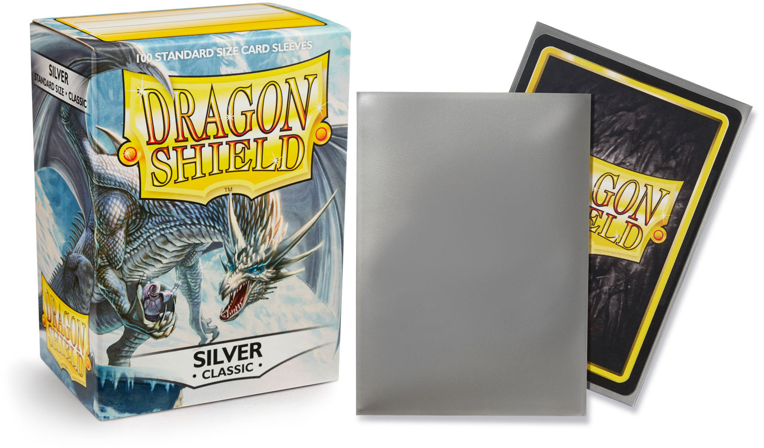 Dragon Shield Classic Standard-Size Sleeves - Silver - 100ct