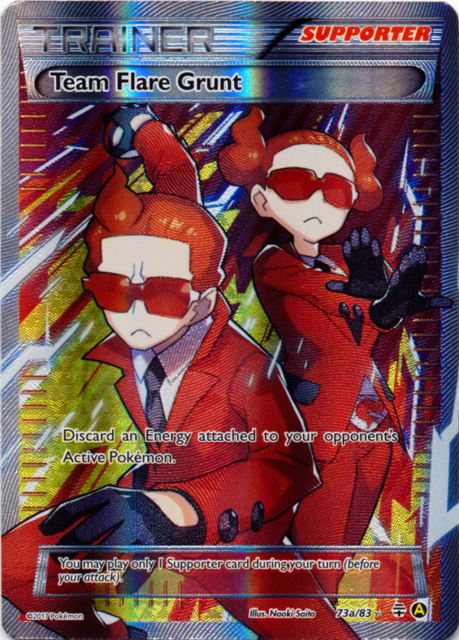 Team Flare Grunt 73a/83 Full Art Promo - Premium Trainers XY Collection