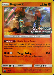 Regirock SM74 Wave Holo Promo - Crimson Invasion Prerelease