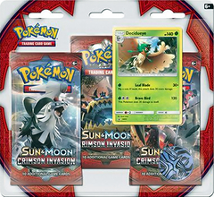 Pokemon Sun & Moon SM4 Crimson Invasion 3-Booster Blister Pack - Decidueye Promo