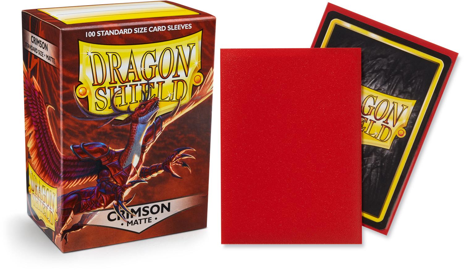 WOW DRAGON SHIELD Matte Red Sleeves MTG POKEMON 100