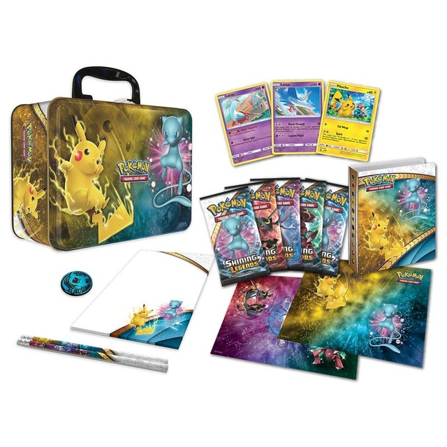 2017 Pokemon TCG Shining Legends Collector's Chest Lunchbox Tin Sealed NEW