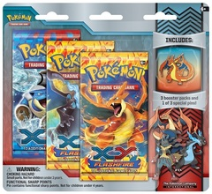 Pokemon XY2 Flashfire 3-Booster Blister Pack - Mega Charizard Y Pin