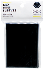 Dex Protection Mini-Size Sleeves - Black - 60ct