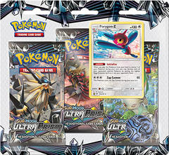 Pokemon Sun & Moon SM5 Ultra Prism 3-Booster Blister Pack - Porygon-Z Promo