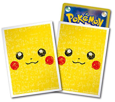 Japanese Pokemon Pikachu Face Sleeves - 64ct